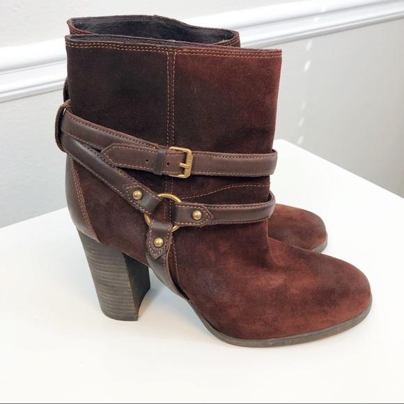UGG Shoes - UGG | 'Dandridge' Brown Suede Harness Bootie